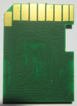 PCB SD card - contact side